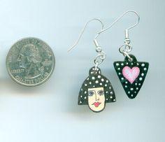 Dainty Polka Dot Girly Girl Earrings  Light as Air by jodinobles