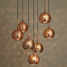 Buy John Lewis Simba Dangles Cluster Ceiling Light  7 Light  Copper Online  at johnlewisBHS   Illuminate   Lexi Smoke Cluster   smoke glass and dark  . Luminary Lighting John Kent. Home Design Ideas