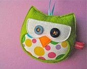 felt owl ornaments!