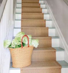 Step up your decor with a beautiful staircase makeover! Check out these swoonworthy staircase makeover ideas featuring stenciled and painted staircases. Painted Staircases, Painted Stairs, Wood Stairs, Spiral Staircases, Staircase Makeover, Staircase Ideas, Staircase Runner, Staircase Design, Stairway Paint Ideas
