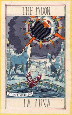Felix d'Eon ~ Aztec Tarot Deck The Moon