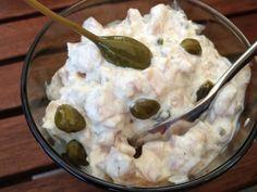 Räucherforellen-Tartare mit Kapern Oatmeal, Pudding, Breakfast, Desserts, Food, Kochen, Recipies, The Oatmeal, Flan