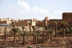 Renovation work at the ancient city of Diriyah, a Unesco World Heritage site near Riyadh, April 2013.