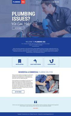 8 Target focused plumbing landing pages for better conversion Website Design Layout, Web Layout, Website Design Inspiration, Website Designs, Design Layouts, Leaky Faucet Repair, Flat Web Design, Ui Design, Insurance Website