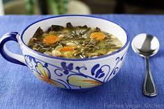 Collard Greens & Winter Root Soup