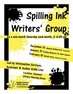 All writers are welcome!  Pick up tips from published author Kathi Linz and hear speakers about a variety of topics.
