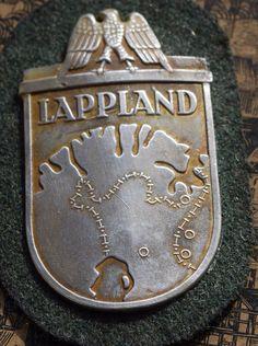 Lapplandschild Lappland, Nazi Propaganda, German Uniforms, Military Insignia, World War Two, Wwii, Germany, Finland, History