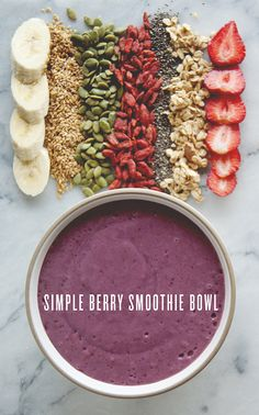 SIMPLE BERRY SMOOTHIE BOWL // In need of a detox? 10% off using our discount code 'Pin10' at www.ThinTea.com.au