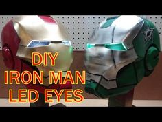 IRON MAN HELMET BUILD {PART 2} LED EYES E6 - YouTube