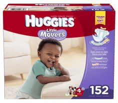 Huggies Little Movers Diapers, Size 4, 152 Count - http://diaperclothing.com/?product=huggies-little-movers-diapers-size-4-152-count