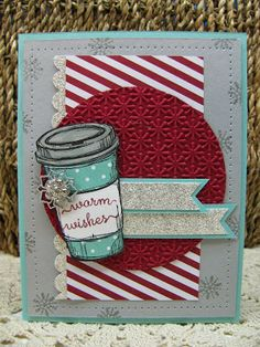 Perfect Blend Stamp set, Snow Day stamp set, Season of Style DSP, Coastal Cabana DSP stack, Frosted Finishes Embellishment, Scallop Border Punch