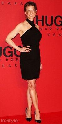 Renee Zellweger, Hugo Boss`un Berlin`deki defilesine siyah küçük elbisesi ve Christian Louboutin ayakkabılarıyla katıldı.