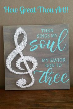 Then Sings My Soul Sign/ Hand Painted/ String Art/ Gallery Wall Decor #wood #woodsigns #ad #rusticdecor #rusticfarmhouse #farmhouse #farmhousestyle #giftidea #gifts #inspirational #songs