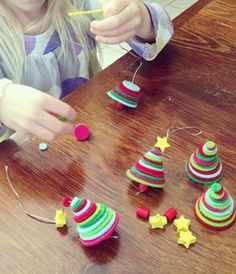 Kids love making ornaments to decorate the holiday tree. Click on the photo for easy directions on making craft foam Christmas tree decorations.