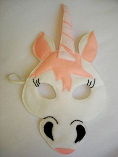 unicorn crafts for preschoolers | Children's UNICORN Fantasy Fairy Princess Felt Mask. $12.50, via Etsy.