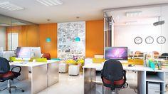 Fyr Studio - Ilustrações Internas Sala Comercial - Maquete Eletrônica - Fyr Studio #Saladeestar #living #arquitetura #interiores #decoração #maqueteleetronica #interiors #estarejantar #apartamento
