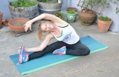 Seated Hamstring Stretch Post Run Stretches, Seated Hamstring Stretch, How To Run Longer, Outdoor Blanket, Running, Keep Running, Why I Run