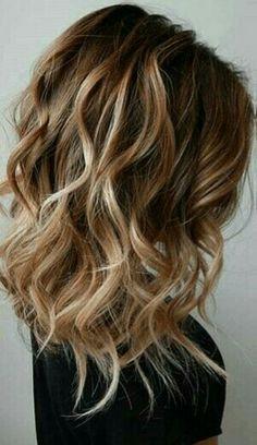 Balayage curly hair #gorgeoushair                                                                                                                                                                                 More