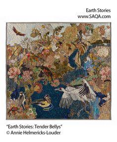 Art quilt by Annie Helmericks-Louder #artquilts #SAQA