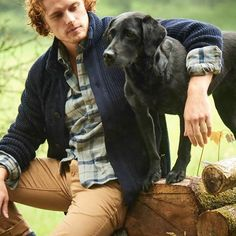BTS photoshoot pics of Sam Heughan from Barbour