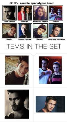 """""""Hale-McCall's Pack zombie apocalypse team"""" by lovely-philosopher ❤ liked on Polyvore featuring art"""