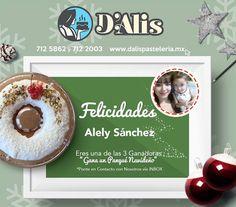 Segundo ganador del 3er sorteo navideño ganador de un delicioso Panqué:  Felicidades Alely Sanchez puedes comunicarte por inbox por favor para que nos pases tus datos
