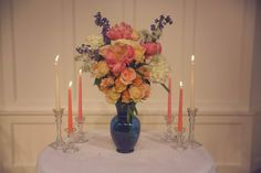 Beautiful Coral and Royal Blue Wedding details - on the Blog - Affordable elegance Bridal