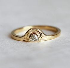 Ring Set, Ring Verlobung, Gold Engagement Rings, Wedding Rings, Wedding Band, Boho Wedding, Wedding Jewelry, Piercings, Look Retro