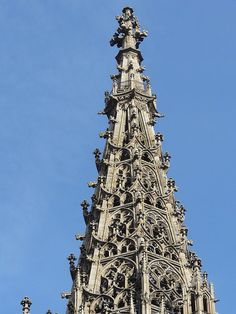 The spire of the Ulm Cathedral, Ulm, Germany
