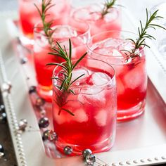 RECIPE - POMEGRANATE ROSEMARY MARTINI. Make a toast to your health and the holidays with this antioxidant-rich cocktail featuring one of our favorite superfoods of Fall, the pomegranate.