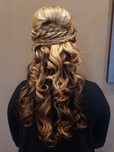 Krista- updo class at Salon Rouge, La Conner, WA ! French braid and fishtail braid