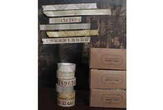 Sepia Printed Paper Tape, Set of 6 - From Antiquefarmhouse.com - http://www.antiquefarmhouse.com/current-sale-events/wrapping-station/printed-paper-tape-3.html