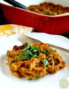 Clean Eating Vegan Italian Spaghetti Squash Bake - Vegan, Gluten-Free, Dairy-Free, Egg-Free, Paleo-Friendly | The Healthy Family and Home
