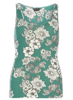 $12 Green Floral Vest Top