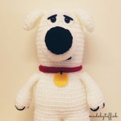 PATTERN ONLY Brian from Family Guy, dog, amigurumi, crochet, PDF