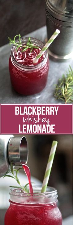 Blackberry Whiskey Lemonade | This refreshing blackberry cocktail is perfect for summertime! A sweet and refreshing whiskey cocktail drink with sweet blackberries and a hint of earthiness from fresh rosemary....