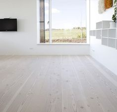 Douglas, finish lye and white soap, Wood Floors Dinesen