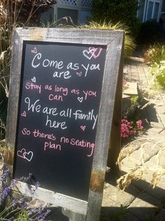 To make or buy?  Saw this on Etsy... Double-Sided A-Board Chalkboard Sidewalk Sign  $90.00,
