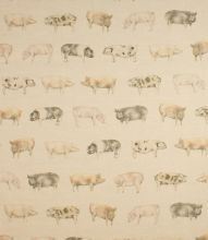 Oink - Linen curtains from justfrabrics.co.uk