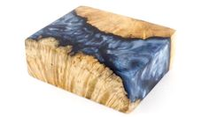 Metallic-Blue-Hybrid-Wood-Acrylic-Burl-Stabilized-Turning-Blank