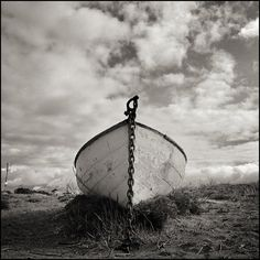 Black and White Photos of Old Boats - The Chetzemoka, Washington Coast - by Brandon Allen