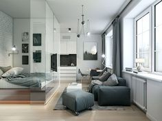 Kleine Wohnung Einrichten 30qm Raumgestaltung Einzimmerwohnung