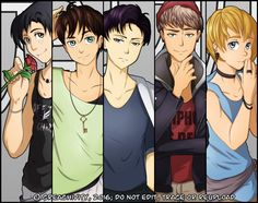 Shingeki no Kyojin Boyband AU by sweetcandyteardrop on DeviantArt