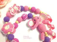 Nursing breastfeeding teething necklace with by ILoveAmigurumi