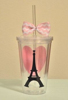 Paris love 16 ounce by SimplyStunningSite Paris Birthday Parties, Paris Party, Paris Theme, Hangover, Acrylic Tumblers, Paris Love, Paris Chic, Ideas Para Fiestas, 11th Birthday