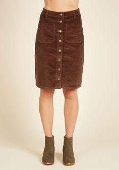 70s vintage skirt skirt in duck blue corduroy T 3436