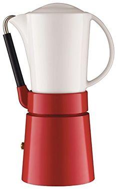 Aerolatte Cafe Porcellana Stove Top Espresso Maker, 4-Cup...