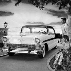 1956 Chevrolet Bel Air Sport Coupe Photo at AllPosters.com