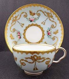 Splendid Antique Minton Tea Cup & Saucer
