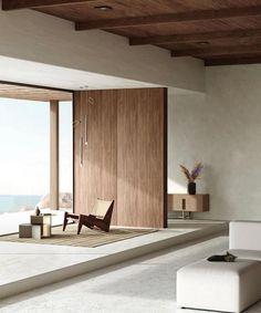 Interior Simple, Minimalist Interior, Minimalist Home, Interior Design Living Room, Interior Decorating, Tadelakt, Home And Deco, Architectural Digest, Interior Inspiration